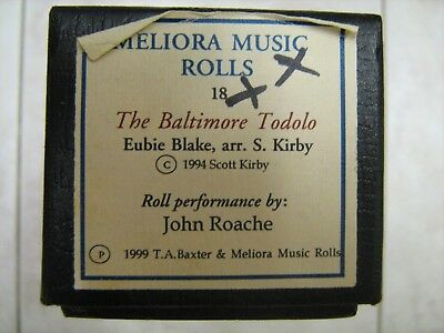 Meliora Piano Music Roll #18 The Baltimore Todolo; Eubie Blake, Arr. by S. Kirby