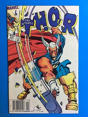 Thor #337 VF 1st Beta Ray Bill - Signed inside first page Walt Simonson!
