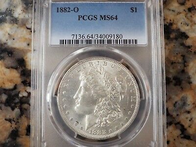 1882-O Morgan Silver Dollar, PCGS MS-64!