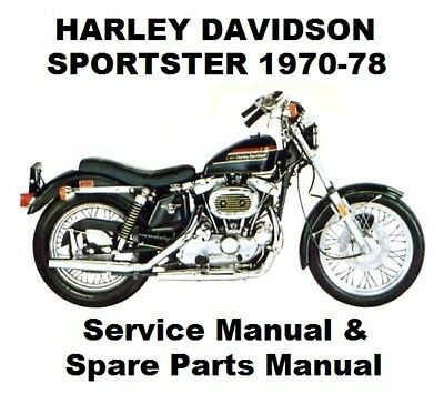 SPORTSTER XL 883 1000 - Owners Workshop Service Repair Parts Manual PDF on CD-R