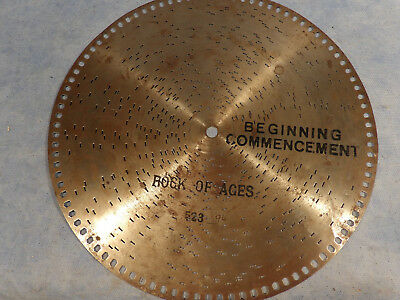 Antique 12 Inch Music Box Disc Rock Of Ages