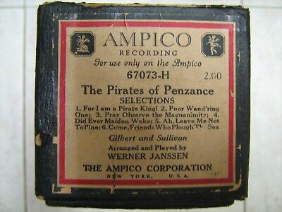 Ampico Piano Music Roll #67073-H The Pirates of Penzance; 6 Songs
