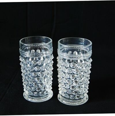 Hobbs Brockunier Hobnail Juice Clear Glasses Set Of 2