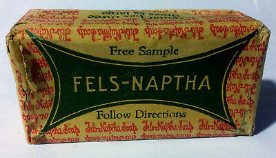 Rare Vintage 1920's Sample Size Fels-Naptha Soap Bar Sealed Unused