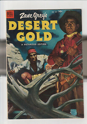 Four Color #467 - Zane Grey's Desert Gold (May-Jul 1953, Dell) VG+ painted cover