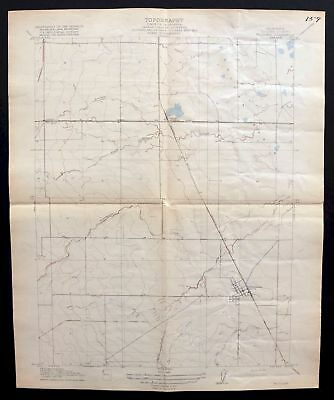 1918 Williams California Colusa Antique 7.5-minute USGS Topographic Topo Map