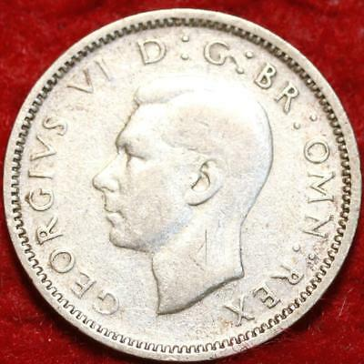 1946 Great Britain 6 Pence Silver Foreign Coin