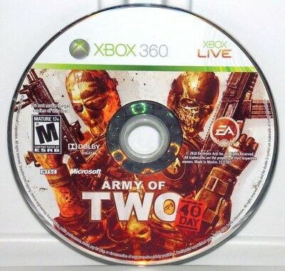 Army of Two: The 40th Day (Microsoft Xbox 360, 2010) Army of 2 Video Game Disc