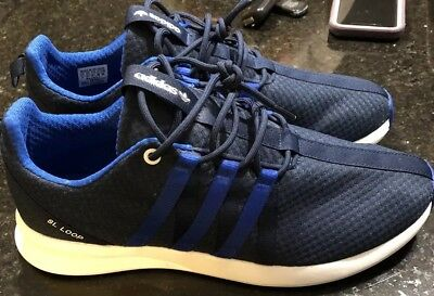 outlet store 448a4 64332 Mens Adidas Originals SL Loop Racer Navy White Running Shoes Sz. 11