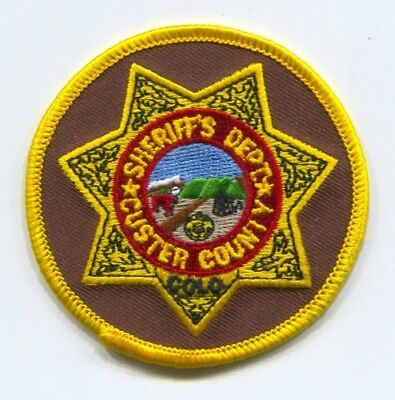 Custer County Sheriffs Office Patch Colorado Co. Department Dept. Police Cow