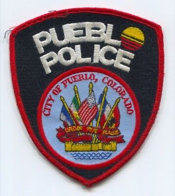 City Of Pueblo Police Department Patch Colorado Co Sheriffs Office Used Flags