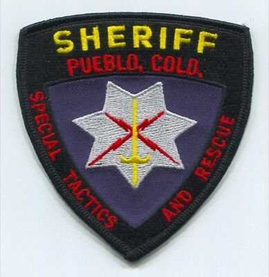 Pueblo County Sheriffs Office Special Tactics And Rescue Star Patch Colorado Co