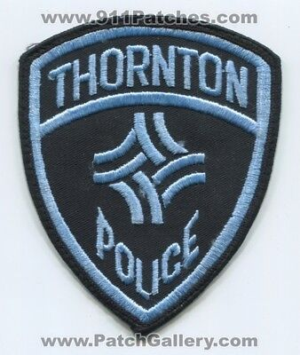 Thornton Police Department Patch Colorado Co Dept. Sheriffs Office Old Used