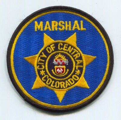 Central Marshals Office Patch Colorado Co Central City Of Police Department
