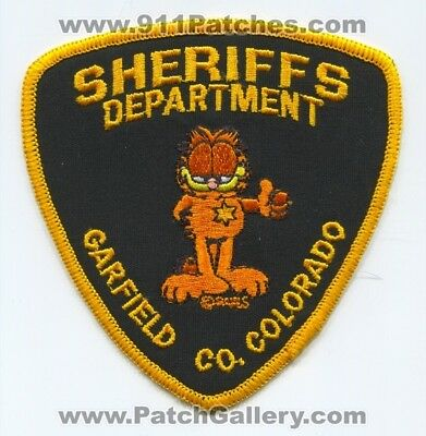 Garfield County Sheriffs Office Patch Colorado Co. Department Dept. The Cat Old