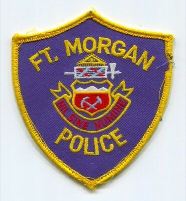 Fort Morgan Police Department Patch Colorado Co Ft. Dept. Sheriffs Office Used
