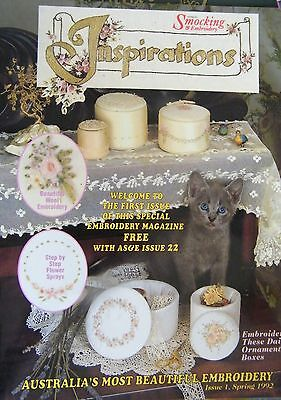 Australian Smocking & Embroidery Inspirations Issue 1 Spring 1992 18 Pages