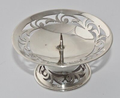 31g Silver Pierced Candle Holder