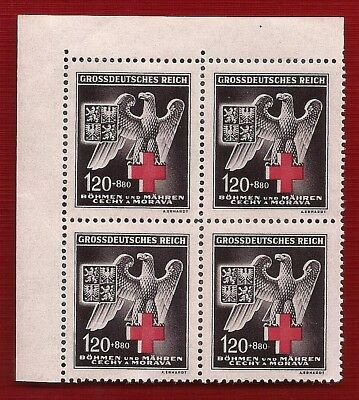 Nazi Germany 3rd Reich RED CROSS Eagle stamps MNH WW2