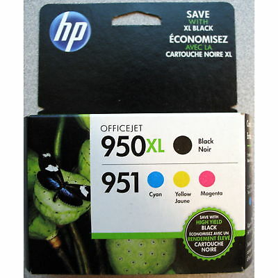 4-PACK HP GENUINE 950XL Black & 951 Color Ink (RETAIL BOX) OFFICEJET PRO 8600