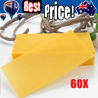 Beekeeping - 60 sheets beeswax foundation for beekeeping 195 x 415mm AU Stock