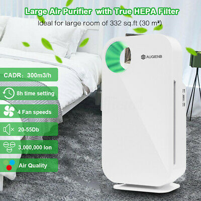 Portable Air Purifier Freshener Carbon HEPA Filter Ioniser Odor Air Cleaner AU