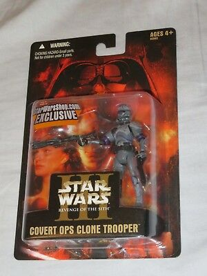 Star Wars Revenge of the Sith Exclusive Episode III Covert Ops Clone Trooper MOC