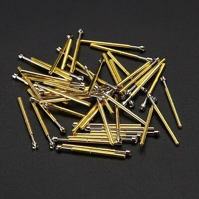 50pcs P75-LM2 Dia. 1.02mm Spring Loaded Test Probes Receptacle Pogo Pin DIY Tool