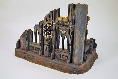 RUINED ADEPTUS MINISTORUM building defiled painted Forge World resin  terrain OOP