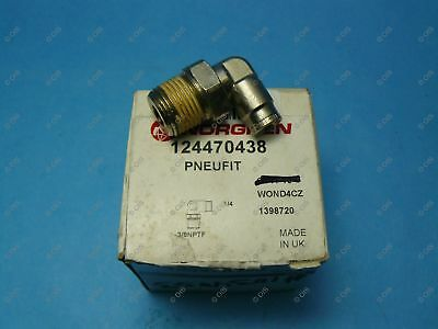 """Norgren 12-447-0438 Push To Connect Swivel Elbow 1/4 Tube x 3/8"""" NPT Male Brass"""