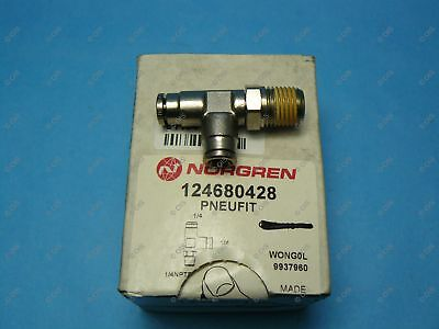 """Norgren 12-468-0428 Push To Connect Swivel Side Male Tee 1/4 x 1/4 NPT X 1/4"""""""