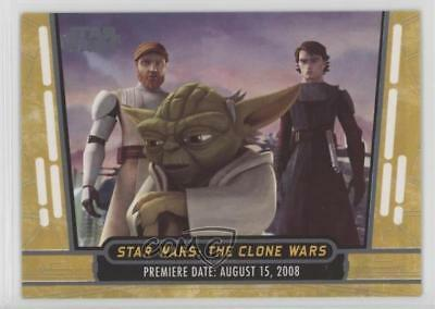 2017 Topps 40th Anniversary Gold 9 Star Wars: The Clone Wars Non-Sports Card 1j8