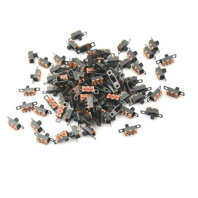 100x 3 Pin 2 Position Mini Size SPDT Slide Switches On Off PCB 5V 0.3A Switch XR