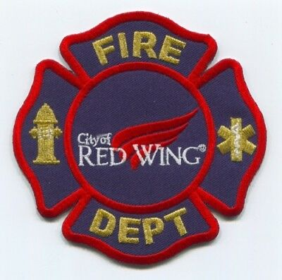 City Of Red Wing Fire Department Patch Minnesota Mn Dept. Rescue Ems Ambulance