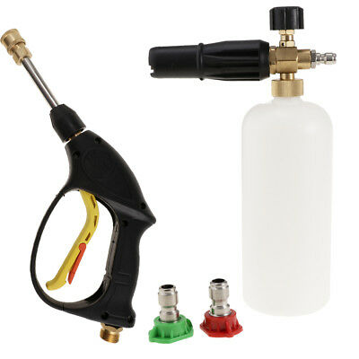 Adjustable Car Cleaning Pressure Washer Jet Wash Snow Foam Lance Sprayer