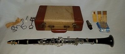 Vintage Century Dura-nyl Clarinet Made By Cundy Bettoney Boston USA