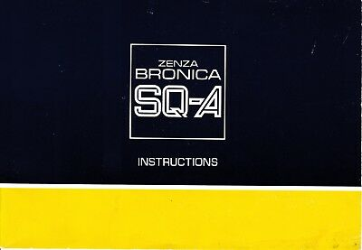 Bronica SQ-A Instruction Manual, English, PDF format from high quality scan
