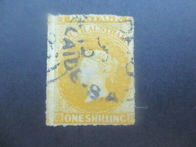 South Australia Stamps: 1/- Yellow 1860 -69 Used - Rare   (h248)