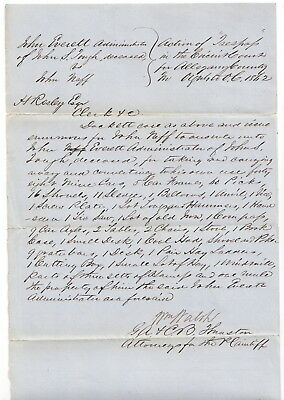 Allegany Co Maryland 1862 Document Signed, William Walsh US Congress