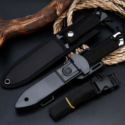 "8"" Fixed Blade Straight Tactical Military Pocket Hunting Knife Multifunction"