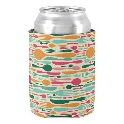Aihesui® Retro Cutlery Pattern Background Can Cooler Wedding Home Decor Beer