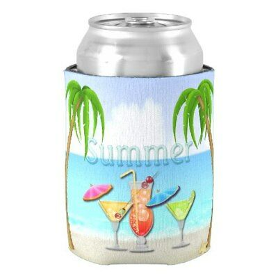 Aihesui® Beach Summer Cocktails Can Cooler Custom Your Own Design Party Supplies