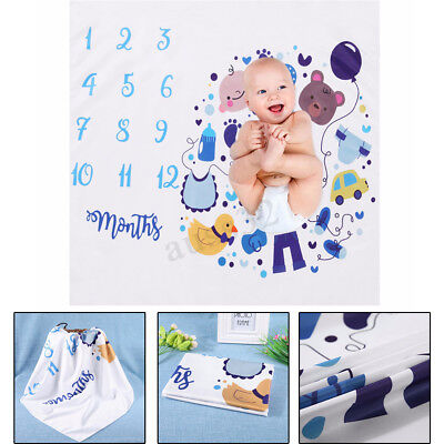 Photography Background Rug Blanket for Newborn Baby Monthly Growth Milestone
