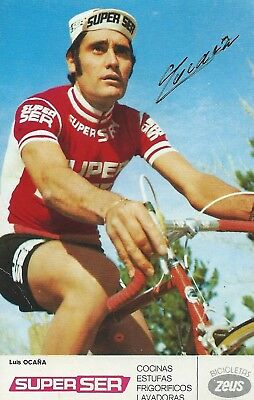 LUIS OCANA, Original Hand-Signed Cycling Autograph, Card 9x14cm