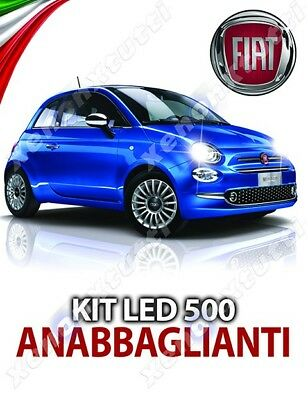 Kit Full Led Fiat 500 Lampade Anabbaglianti H7 6000K No Error