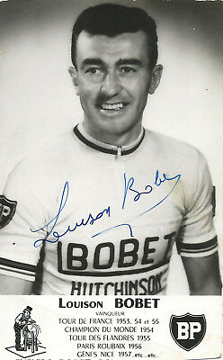 LOUISON BOBET, Original Hand-Signed Cycling Autograph, Card 9x14cm