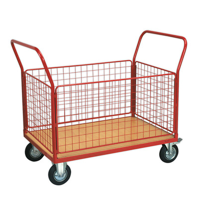 Sealey CST773 Platform Truck With 4 Removable Panels 300kg 1200 X 800mm