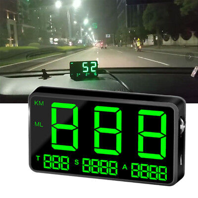 GPS HUD Universal Digital Head Up Display Car Truck Speedometer Speed Warn drive
