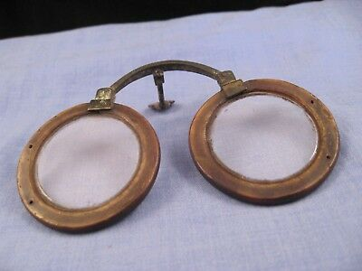 LOVELY ANTIQUE CHINESE HORN NOSE SPECTACLES 1700s READING GLASSES