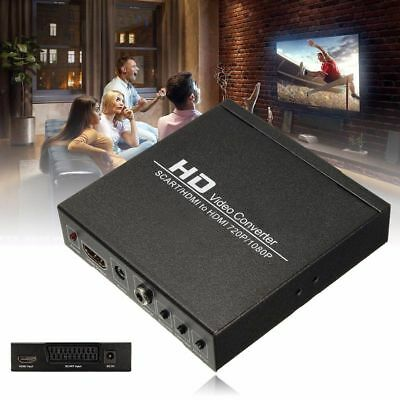 SCART/HDMI To HDMI 720P/1080P HD Video-Converter Adapter + EU Plug For DVD STB